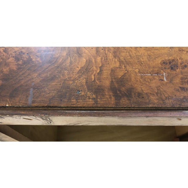 Wood 1970s Milo Baughman Burl Wood Large Cube End Table For Sale - Image 7 of 13