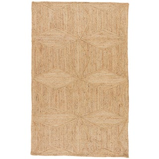 Jaipur Living Abel Natural Geometric Beige Area Rug - 8′ × 10′ For Sale