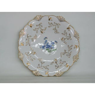 Early 20th Century Meissen K226 Hand Painted Blue Flowers Gold Trim German Porcelain Plate Preview