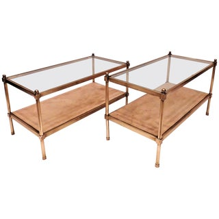 Neoclassical Style Coffee Tables, France Circa 1940 - a Pair For Sale
