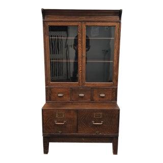 Vintage Oak Office Hutch