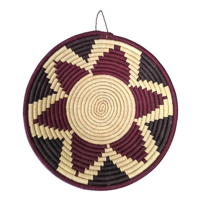 1990s Coiled Artisanal Rwandan Basket For Sale
