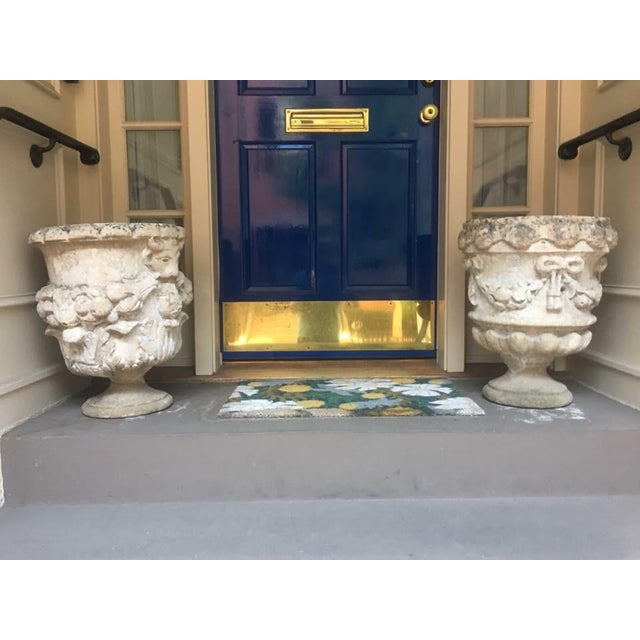18th Century Hand Carved Cotswold Stone Planters - a Pair For Sale - Image 10 of 10