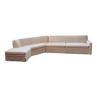 Mid Century Modern Cream Sectional Sofa For Sale