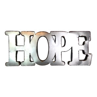Silver Metal Hope Sign For Sale