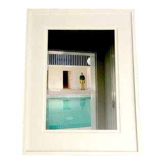 Modern Photograph, Man at the Pool For Sale