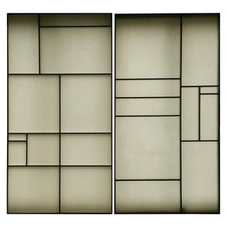 Architectural Aluminum and Fiberglass Panels Mondrian Design - A Pair For Sale