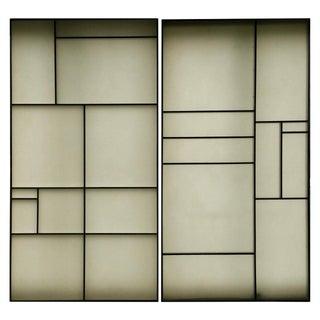 Architectural Aluminum and Fiberglass Panels Mondrian Design - A Pair For Sale