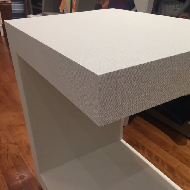 White Bungalow 5 Linen Side Tables- a Pair For Sale - Image 8 of 12