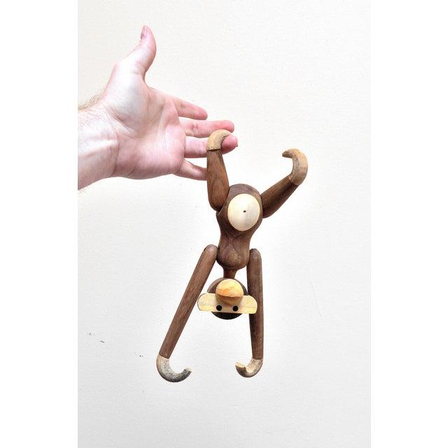 Vintage Carved Wooden Hanging Monkey - Image 3 of 10