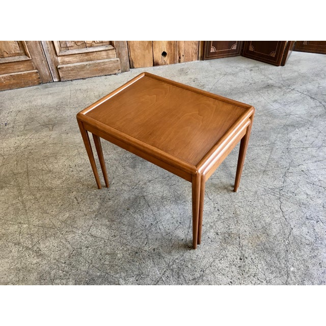 Brown Nesting Tables by t.h. Robsjohn-Gibbings for Widdicomb - A Pair For Sale - Image 8 of 11