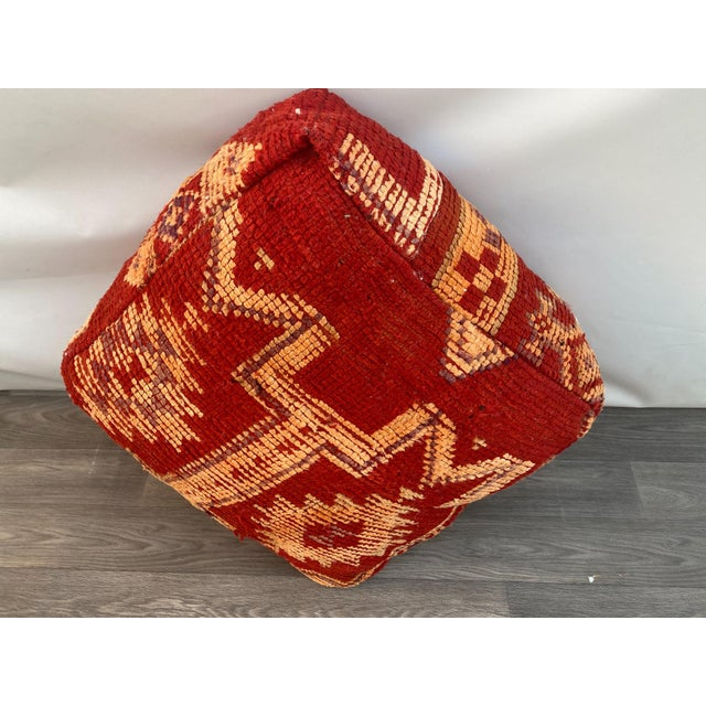 1980s Vintage Moroccan Pouf Cover For Sale - Image 9 of 13