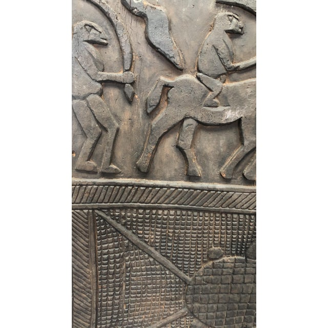 African Antique African Carved Wood Panel For Sale - Image 3 of 5
