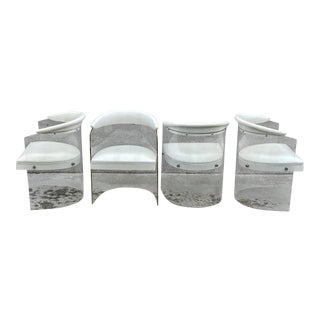 Lucite Barrel Back Chairs - Set of 4 For Sale