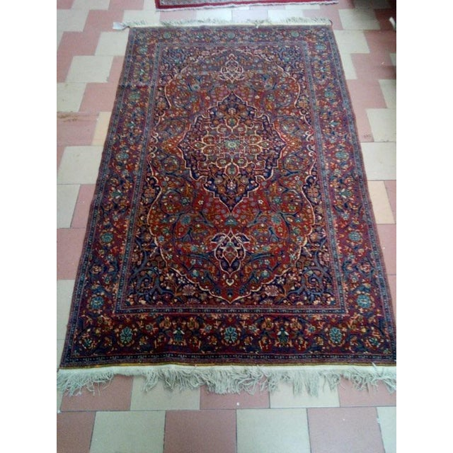 1920s Antique Persian Mohtasham Kashan Rug - 4′5″ × 7′ For Sale In New York - Image 6 of 8