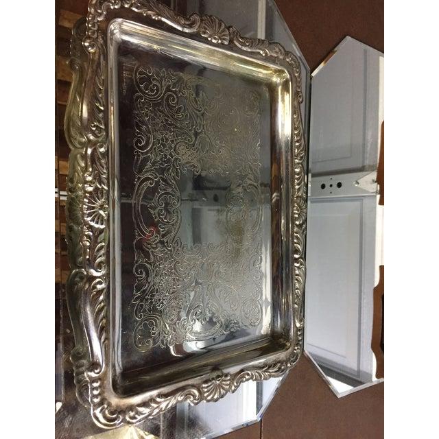 Engraving Art Nouveau Silver-Plate Tea Set - 4 Pc. Set For Sale - Image 7 of 11