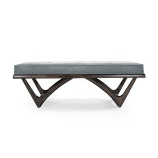 Modernist Sculptural Walnut Bench Preview