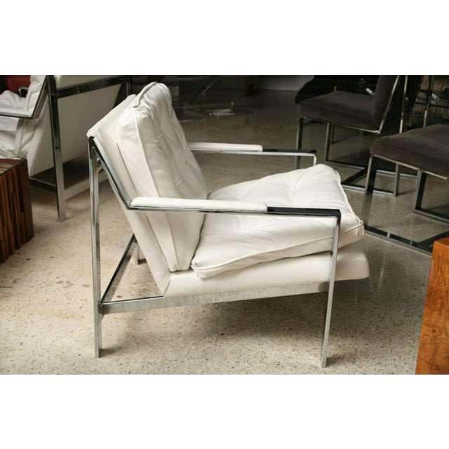 Pair of Cy Mann Polished Chrome Cube Chairs For Sale In Miami - Image 6 of 9