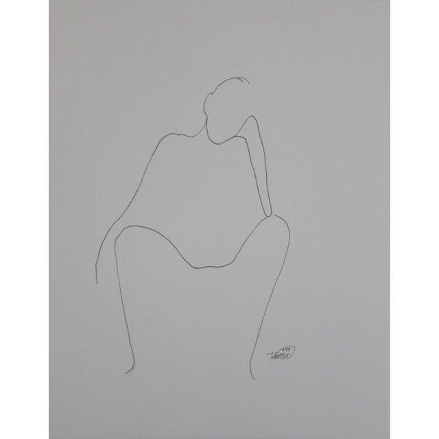 """Thinking"" Original Ink Drawing - Image 1 of 3"