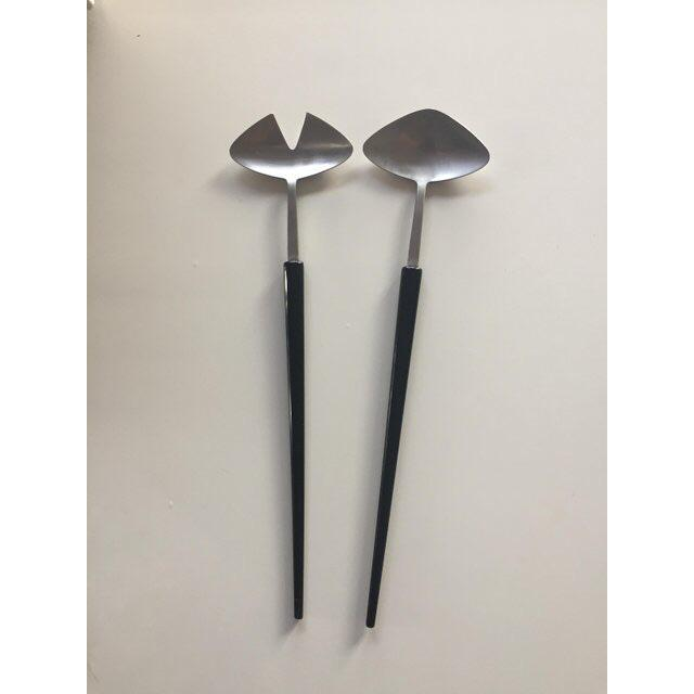 Rare vintage Gense of Sweden stainless steel salad servers. Designed in 1955 by Pierre Forssell. Nice modern style. Some...