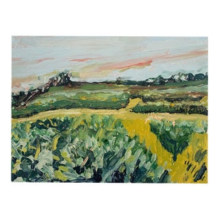 Spring Orchard Oil on Canvas For Sale