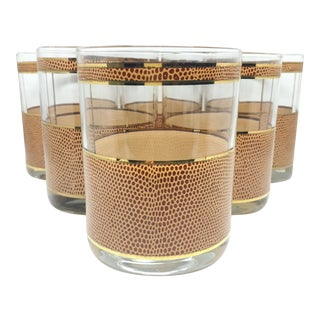 George Briard Faux Snakeskin Glasses - Set of 6