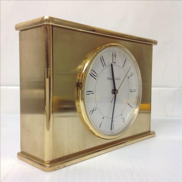 Vintage Tiffany & Co. Brass Mantle Clock - Image 4 of 8