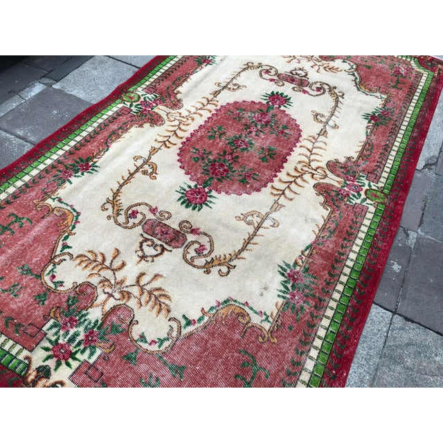 1960s Vintage Turkish Rug - 5′4″ × 9′2″ For Sale - Image 6 of 10