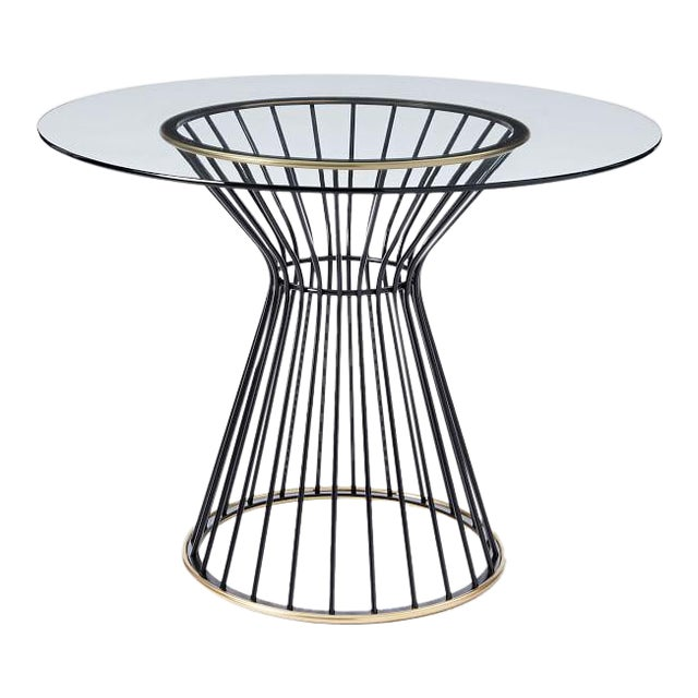 West Elm Hourglass 42 Round Dining Table Chairish