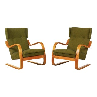 1930s Alvar Aalto Cantilevered Armchairs, Model 36/401 - a Pair For Sale