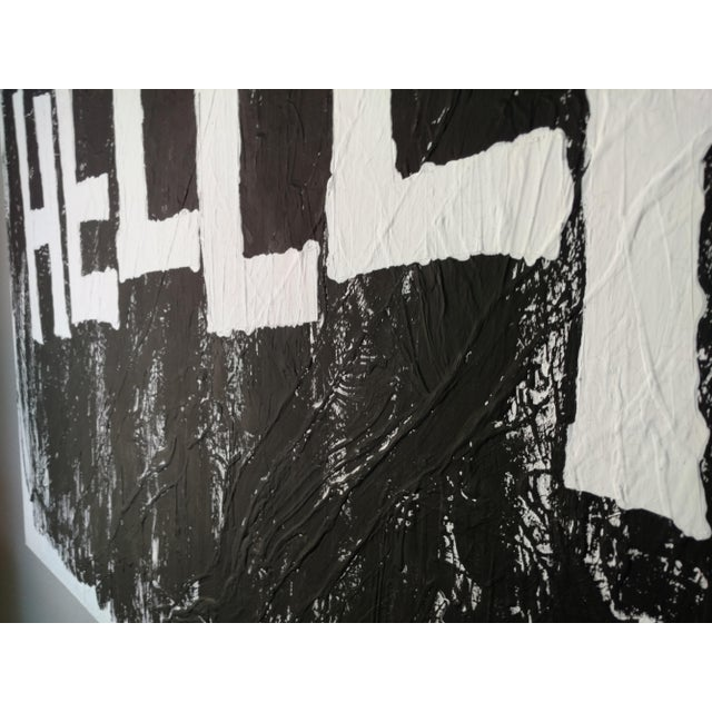 Modern Black & White Political Painting: GOP - Image 7 of 11