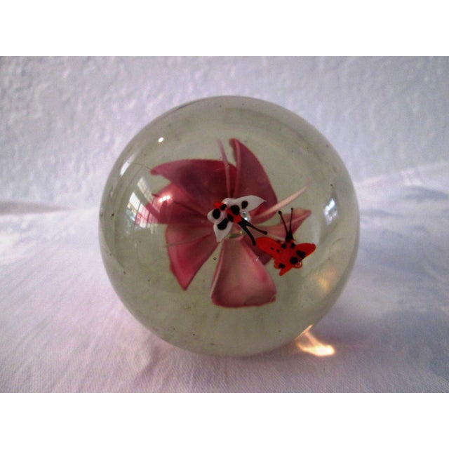 Pink Orchid Glass Paperweight - Image 5 of 5