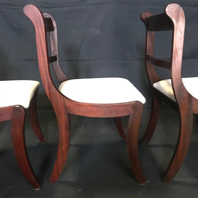 Early 19th Century Regency Dining Chairs- Set of 4 For Sale - Image 9 of 13
