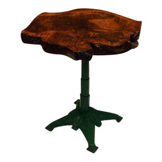 French Burl Top Garden Table