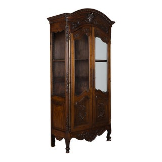 1900s Louis XV Provençal Vitrine or Display Cabinet For Sale