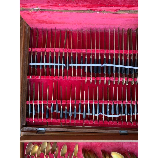 Mid 20th Century Mid 20th Century Vintage Bronze Flatware From Bangkok Thailand - 144 Pc. Set For Sale - Image 5 of 8
