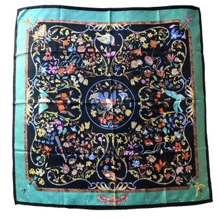 Hermès the Silk Road Collection Silk Carrè Scarf For Sale