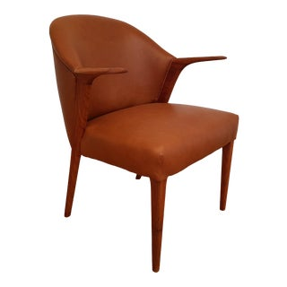 1960s Vintage Knud A. Risager Danish Armchair For Sale