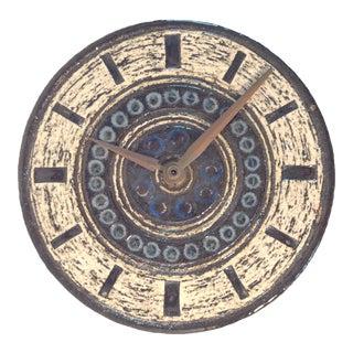 Vintage Mid Century Modern Britt-Louise Sundell for Gustavsberg Sweden Stoneware Clock For Sale