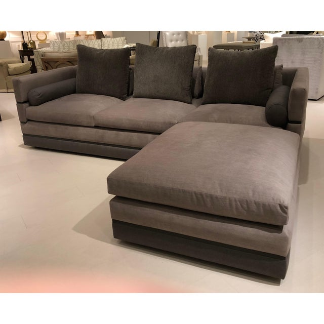 Contemporary Nathan Anthony Evok Sofa and Evok Bumper Ottoman For Sale - Image 3 of 11