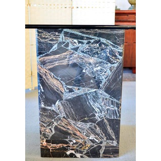 Italian Black and Gold Marble Dining Table Base and Glass Preview