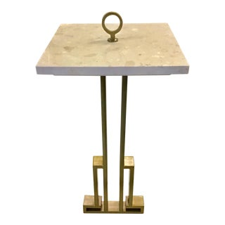 Hollywood Regency Style Side Table For Sale