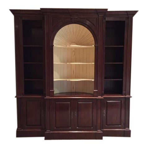 Harden Goddard Solid Cherry Library Cabinet For Sale
