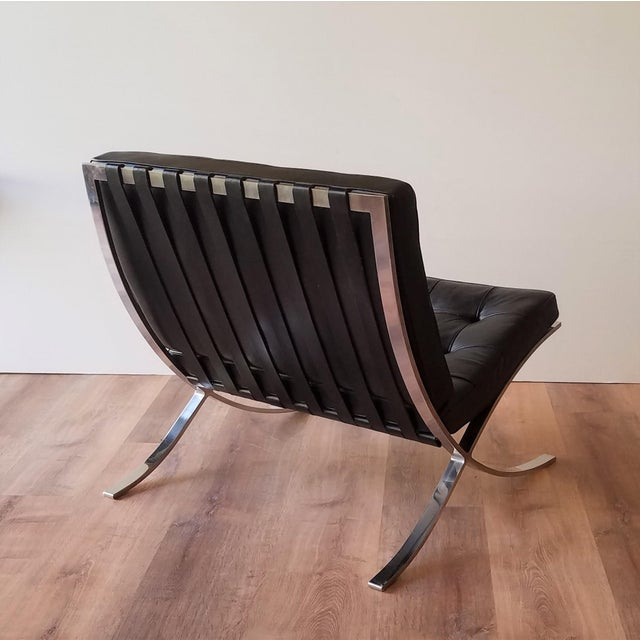 Metal 1970's Vintage Barcelona Chair by Knoll - a Pair For Sale - Image 7 of 13