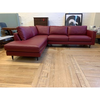 Furniture Envy Three Piece Holden Collection Leather Sectional Preview
