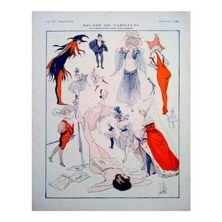 "Armand Vallée 1924 ""Salade De Carnaval"" La Vie Parisienne Print"