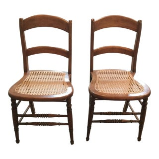 Late 19th Century Vintage Americana Side Chairs- A Pair For Sale