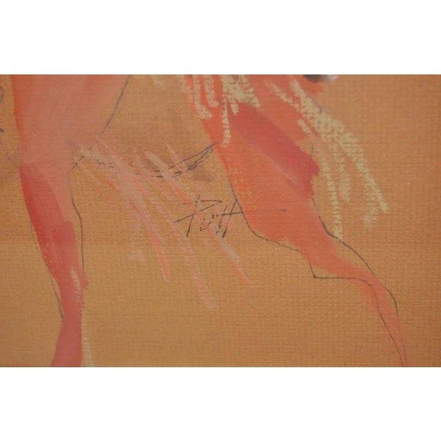 "Native American Donald ""Putt"" Putman Indian Chief Original Painting For Sale - Image 3 of 6"