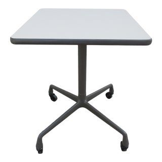 Vintage Mid Century Herman Miller Aluminum Group Petite Table For Sale