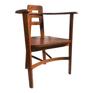 1940s Deco Mission Style Oak Armchair For Sale